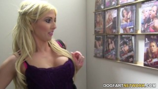 Christie Stevens Sucks BBC - Gloryhole  big black cock big tits blowjob blonde gloryhole pornstar fetish busty hardcore kink interracial dogfartnetwork deepthroat big boobs glory hole face fucking