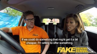 Fake Driving School young ebony learner enjoys creampie for free lessons  ebony teen black girl big tits creampie funny ebony black english fakedrivingschool reality butt petite orgasm british student young black teen cum inside shaved pussy big black booty
