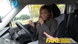 Fake Driving School young ebony learner enjoys creampie for free lessons  black girl big tits creampie funny ebony black english fakedrivingschool reality butt petite orgasm british student young black teen ebony teen cum inside shaved pussy big black booty