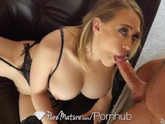 PUREMATURE Mature housewife Kagney Linn Karter welcome home fuck