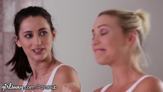 Girlsway Mia Malkova and Angela White help Lesbian Cum lesbians 3some big-natural-tits pussy-eating milf australian blonde mom girlsway natural-tits mother lesbian threesome huge-tits small-tits brunette landing-strip pussy-licking girl-on-girl aussie