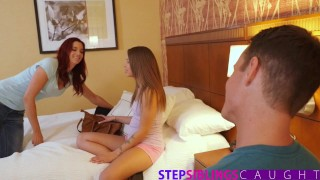 StepSiblingsCaught - Fucking My Lil Sis Liza Rowe While Mom Sleeps  step sis natural teen big-cock step-brother creampie doggy-style cumshot round-ass stepsiblingscaught brunette step-sister small-tits big-dick teenager shower sex