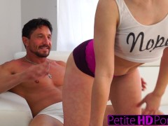 PetiteHDPorn - Step-Daughter Teases Dad With Big Ass