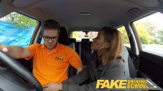Fake Driving School - teaching teen leaners - 100% pass rate  ebony teen black girl squirting orgasm reality tv big tits british glasses squirt black pov car fakedrivingschool teen creampie student anal orgasm