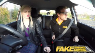 Fake Driving School - teaching teen leaners - 100% pass rate  ebony teen black girl squirting orgasm big tits british glasses squirt black pov car fakedrivingschool teen creampie student anal orgasm reality tv