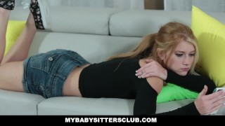 MyBabySittersClub - Horny Blonde Babysitter Fucks Older Boss  cum on tits arya faye teen hairy blonde cumshot babysitter skinny teamskeet hardcore smalltits bigcock doggystyle mybabysittersclub baby sitter