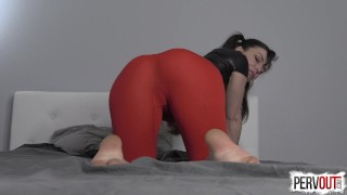 Juliette March Makes You a Girl nice ass pervout sissy yoga pants femdom pov kink pussy envy pigtails feminization brunette leotard fetish sweetfemdom fishnets