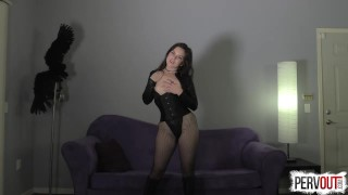 Juliette March Makes You a Girl  femdom pov pervout feminization fetish fishnets sissy kink brunette leotard sweetfemdom nice ass yoga pants pussy envy pigtails