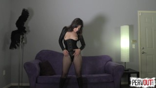 Juliette March Makes You a Girl  femdom pov nice ass pervout feminization fetish fishnets sissy kink brunette leotard sweetfemdom yoga pants pussy envy pigtails