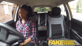 Fake Driving School busty black learner fails test with lesbian examiner  big natural tits big ass big fake tits big tits british ebony black milf lesbian fakedrivingschool mature shaved orgasm pussy licking big boobs girl on girl british milf fake tits