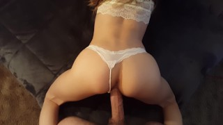 White Panties POV Girlfriend Doggy  big ass point of view big cock panties home made amateur white pov big dick doggy calicouple calicouple1 girlfriend doggy