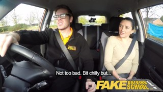 Fake Driving School little English teen gets fucked after her lesson  car sex doggy style teen funny blowjob pov young fakedrivingschool cowgirl 18 year old reality petite british teen shaved teenager facial
