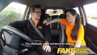 Fake Driving School little English teen gets fucked after her lesson  car sex teen funny doggy-style blowjob pov young fakedrivingschool cowgirl 18 year old reality petite british teen shaved teenager facial