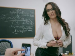 Brazzers - Naughty French teacher Anissa Kate loves anal