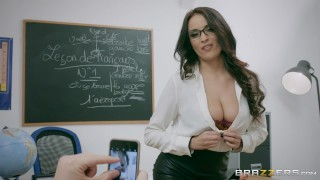 Brazzers naughty french teacher anissa kate loves anal