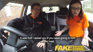 Fake Driving School 19yr old petite American student creampie lesson  tattooed teen glasses funny tattoo pov analized ass-fuck young car fakedrivingschool reality fake taxi small-tits teenager anal creampie
