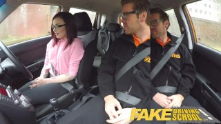 Fake Driving School 19yr old petite American student creampie lesson  ass fuck tattooed teen glasses funny tattoo small tits pov analized young car fakedrivingschool reality fake taxi teenager anal creampie