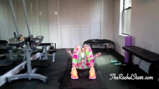 Rachel Starr Works Out