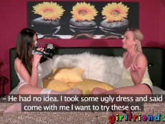 Girlfriends Cute young babe enjoys multiple orgasms with lesbian sex goddes