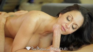 PUREMATURE Busty mature Ava Addams interrupts phone call for fuck  ava addams big tits hd french mom cumshot busty 69 milf hardcore puremature brunette mother hot mom female friendly titty fucking