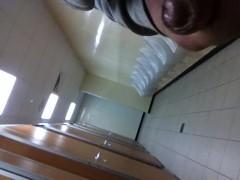 bi horny chav wanking in public toilets