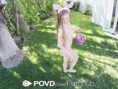 POVD Easter celebration fuck with bunny ears cutie Lena Paul