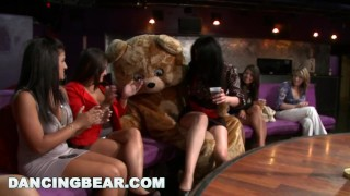 Party Party Party with the Muthafucking Dancing Bear! (db10128) girls-gone-wild male-stripper milf dancingbear db10128 dancing-bear girlsgonewild bangbros ggw crazy bang-bros bear stripper wild party group