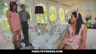 FamilyStrokes - Hot Teen Fucked By Easter Bunny Uncle  hairy step-daughter hardcore smalltits brunette familystrokes bigcock facialize facial doggystyle step uncle avi love furry easter bunny
