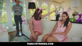 FamilyStrokes - Hot Teen Fucked By Easter Bunny Uncle  step daughter hairy easter bunny hardcore smalltits brunette familystrokes bigcock facialize facial doggystyle step uncle avi love furry
