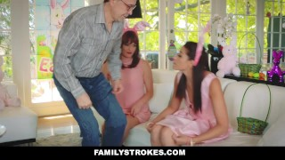 FamilyStrokes - Hot Teen Fucked By Easter Bunny Uncle  step daughter hairy hardcore smalltits brunette familystrokes bigcock facialize facial doggystyle step uncle avi love furry easter bunny