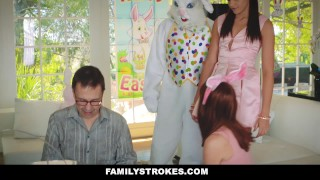 FamilyStrokes - Hot Teen Fucked By Easter Bunny Uncle  step daughter hairy furry easter bunny hardcore smalltits brunette familystrokes bigcock facialize facial doggystyle step uncle avi love