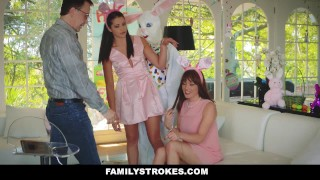 FamilyStrokes - Hot Teen Fucked By Easter Bunny Uncle easter-bunny hardcore avi-love hairy smalltits brunette step-daughter familystrokes bigcock facialize furry step-uncle facial doggystyle