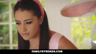 FamilyStrokes - Hot Teen Fucked By Easter Bunny Uncle  avi love hairy furry step-daughter easter bunny hardcore smalltits brunette familystrokes bigcock facialize facial doggystyle step uncle