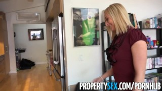 PropertySex - Hot blonde real estate agents lands new client  real estate agent point-of-view funny amateur blowjob blonde cumshot natural-boobs pov propertysex missionary hardcore reality shaved doggystyle