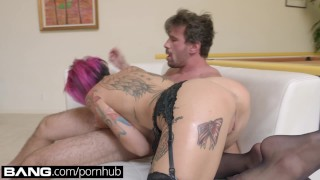 BANG Gonzo: Anna Bell Peaks Squirts All Over In Raw Fuck Session hardcore piercings lingerie anna-bell-peaks gonzo big-tits squirting big-boobs deepthroat tattoo titty-fuck orgasm tattoos banggonzo big-dick fake-tits pussy-licking intense