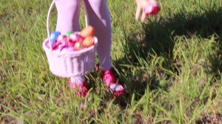 SECRETCRUSH - Public Milky POV Anal Sex With Cute Teen Pink Cosplay Bunny  milk enema big ass milky anal point of view outdoors outside cosplay public pov cute anal enema bunny costume creamy easter easter bunny