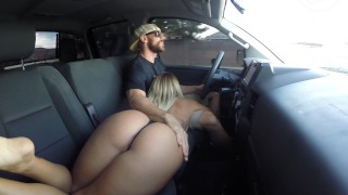 Fucking in Public Drive Threw Car Wash  car sex kissa sins big cock creampie outside couple blonde tattoo public brazzers big dick hardcore cowgirl butt big butt johnny sins road head