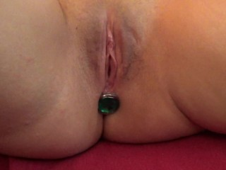 SEXY AMATEUR ASSPLUGGED WIFE PUSSYLICKED DILDOED BY HER GUY