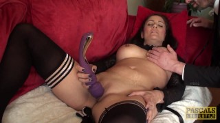 Fingered busty british toying herself