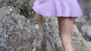 SECRETCRUSH - Flashing Babe In Crowded Public Oiled Waterfalls Pussy Fuck forest waterfalls nature young point of view oil pussy fuck squirting up skirt public public flashing teen squirt outside orgasm public up skirt Pov Blowjob oil overload