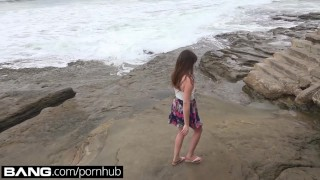Teen Good Girl Flashes Her Tits Ass & Pussy at The Beach  point of view public blowjob teen outside blowjob amateur public pov toys young deepthroat teenager doggystyle public nudity bangrealteens girl masturbating
