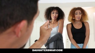 DaughterSwap - Ebony Daughters Punished & Fucked For Sneaking Out  big cock small dad black foursome big dick interracial daughter petite father daughterswap latino latin group facial group sex riley king girl kendall woods