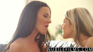 NubileFilms - Lesbian Rim Makes Girlfriend Cum  gina gerson natural lesbians nubilefilms russian blonde small tits skinny rimming brunette petite fingering orgasm pussy licking girl on girl ass licking for women