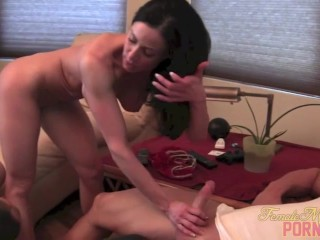 Kendra Lust gets muscle worship and penetration from dickhead and boytoy
