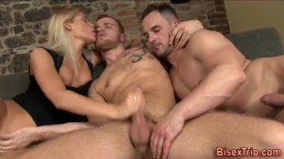 Ass fucked bi dude  ass fucked bi dude riding jerking blowjob blonde cumshot big dick bi cock sucking 3some huge cock anal muscle stroking cock