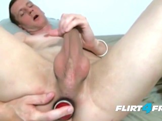 Big Dick Stud Fucks a Big Dildo