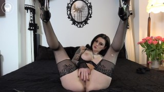 blasphemic slut  german gothic object insertion ass fuck wet pussy high heels lingerie kink german gothic anal tattoos stockings unholy blasphemy blasphemie cross masturbation double penetration