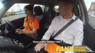 Fake Driving School Pigtailed cutie gets a face full of cum  young thong red underwear british babe sex in car pigtails fds instructor uk fakedrivingschool car porn reality funny teenager car sex