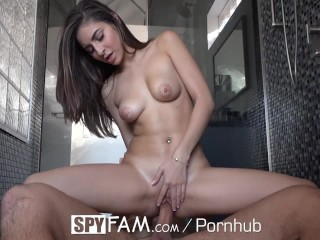 Spyfam step brother and step sister sydney cole fucking in the jacuzzi 4