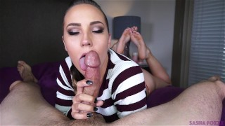 Mouth full of cum! Yum!  oral creampie big booty the pose Pov Blowjob cock sucking barefoot swallow huge cock mark rockwell sasha foxxx huge ass cim cum in mouth ocp